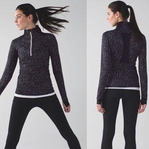 Lululemon Black Go The Distance 1/2 Zip Sweater